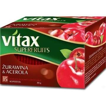 15 * 2g Cranberry Fruit & Acerola Vitax Tea