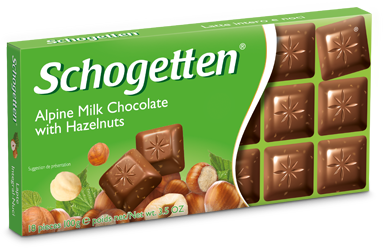 Schogetten Alpine Milk Chocolate with Hazelnuts