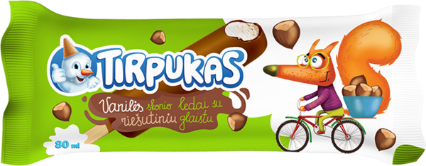 Tirpukas on a stick