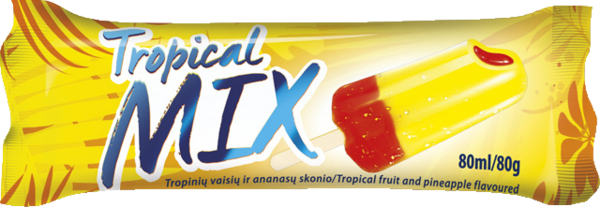 Tropical mix ice lolly