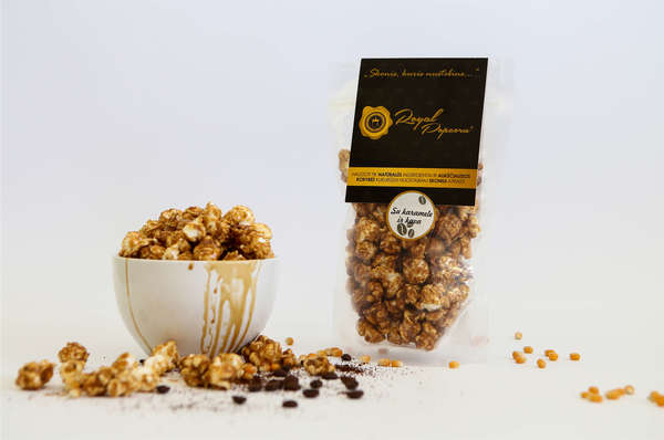 Royal Popcorn with Caramel and Coffee