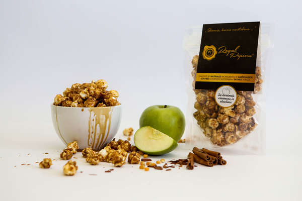 Royal Popcorn with Caramel and Apple and Cinnamon