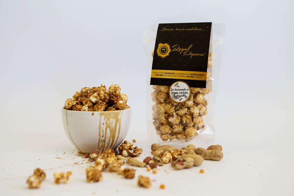 Royal Popcorn with Caramel and Peanut Butter
