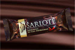 Charlotte chocolate bar with chilli pepper