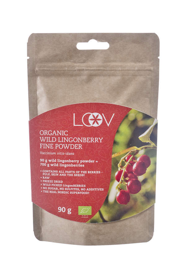 Freeze-Dried Organic Wild Lingonberry Fine Powder