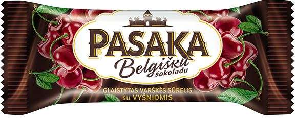 "Curd cheese ""PASAKA"" with cherries, 22% fat."