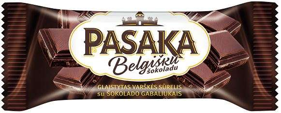 """Curd cheese """"PASAKA"""" with chocolate chips, 23% fat."""