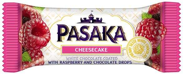 "Curd cheese ""PASAKA"" with raspberries and cocoa"