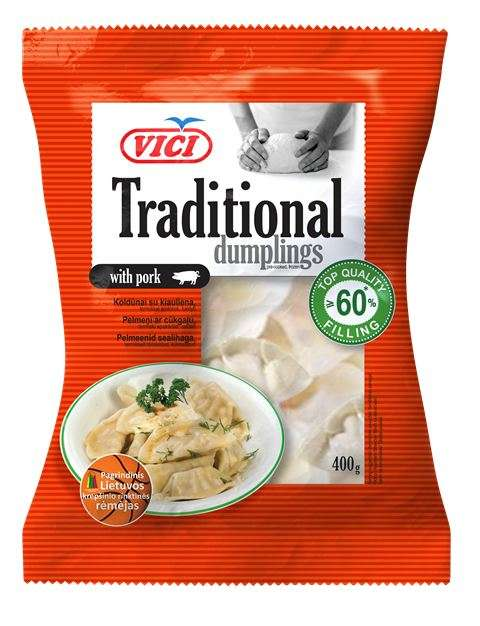 Dumplings with pork Traditional style 12x400g