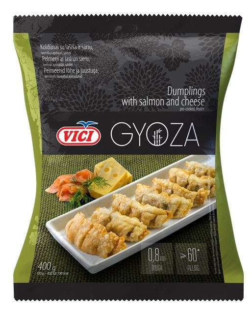 Dumplings with salmon and cheese, Gyoza 8X400 g
