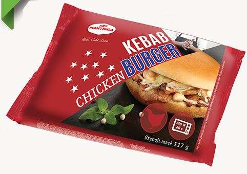 Hamburger with chicken kebabs 95g