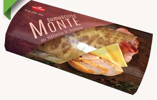 Sandwich MONTE with ham and cheese 190g
