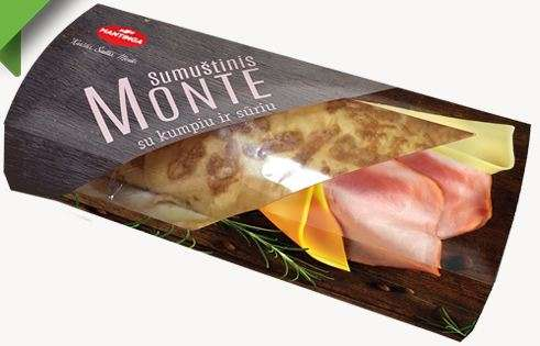 Sandwich MONTE with chicken and bacon 175