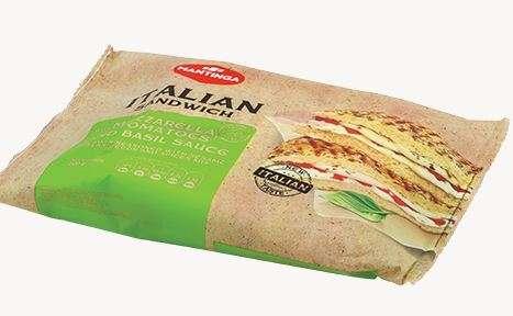 Italian Sandwich with Mozarella,Tomatoes and Basil Sauce 200g