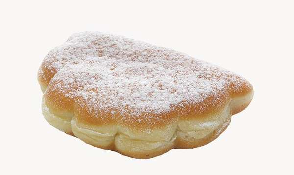 "Donut ""Gėlytė"" with blueberry and cream filling 85g"