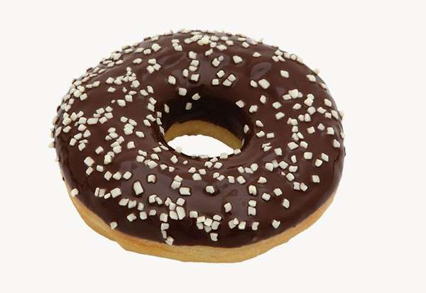 "Black donut ""Donuts"" with white chocolate sprinkles 55g"