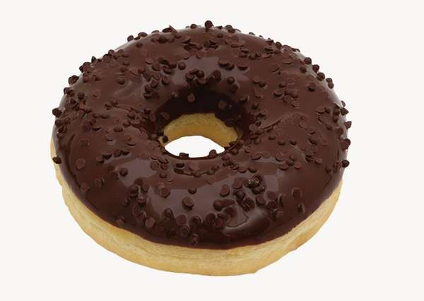"""Black donut  """"Donuts"""" with chocolate sprinkles 55g"""