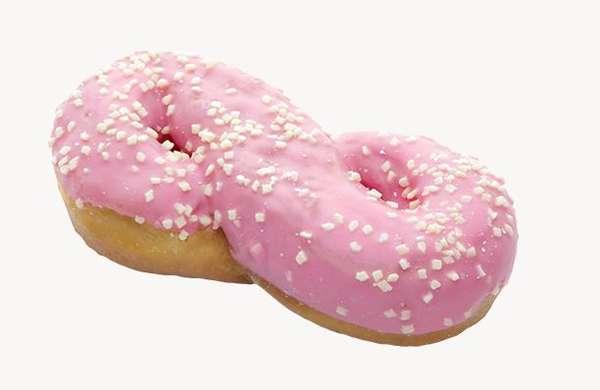 """Donut  ''Aštuoniukė""""with strawberry glaze 55g"""
