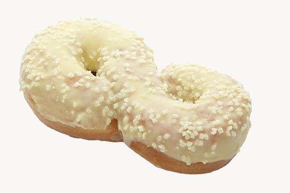 """Donut  ''Aštuoniukė"""" With banana glaze 55g"""