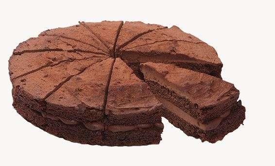 Double Chocolate Tart (sliced) 1,6kg