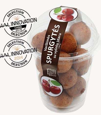 Mini Curd Berliner Balls with Cherry Filling 130g