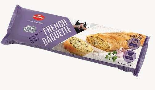 French Baguett es with Garlic Butt er Filling 175g