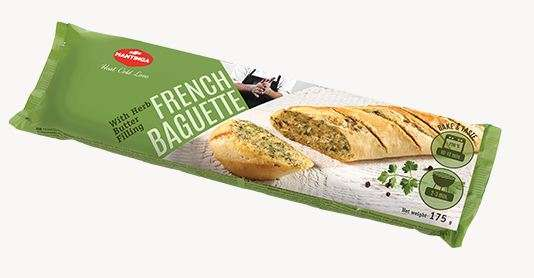 French Baguett e with Herb Butt er Filling 175g