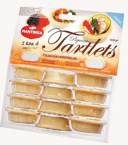 Piquant Tartlets (round) 12x9 g 108g