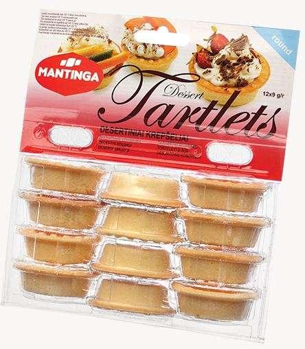 Dessert Tartlets (round) 12x9 g 108g