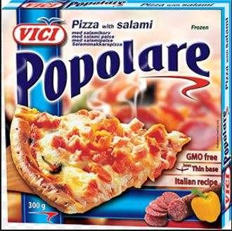 Pizza with salami, Popolare, 7x300 g