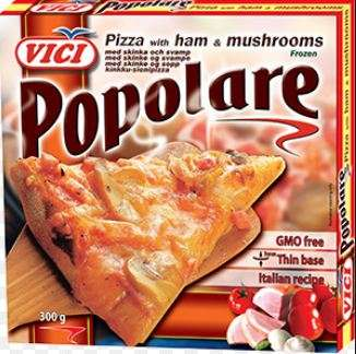 Pizza with ham and mushrooms, Popolare, 7x300 g