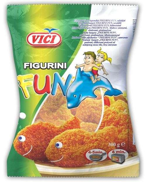 "Fish steaks  ""Figurini FUN"", 300g"