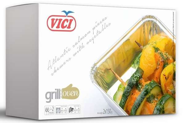 Salmon fillet with vegetables, 300g