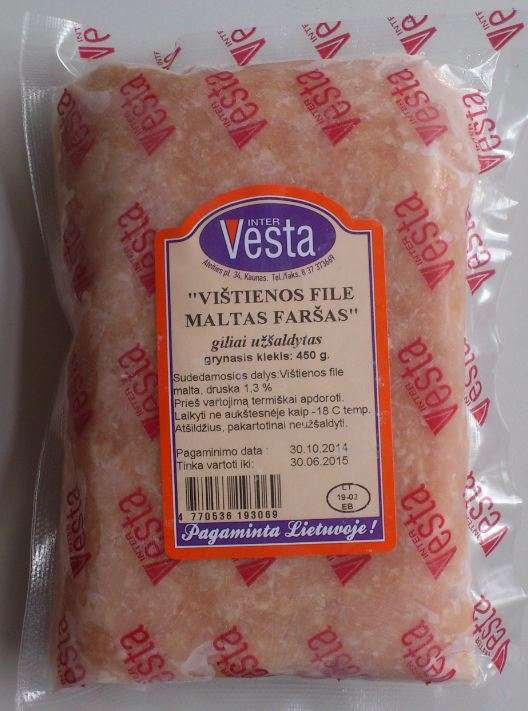 Chicken fillet mince ground froze, 450g