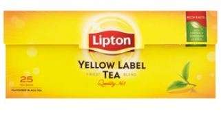 "LIPTON black tea ""Yellow Label"" *25"