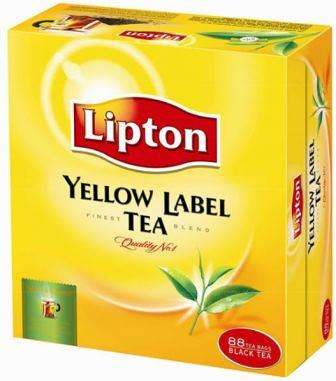"LIPTON black tea ""Yellow Label"" *88"