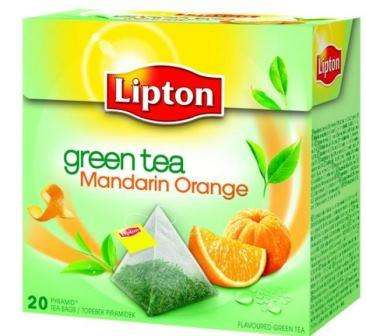 LIPTON green tea and mandarin ,orange flavor *20
