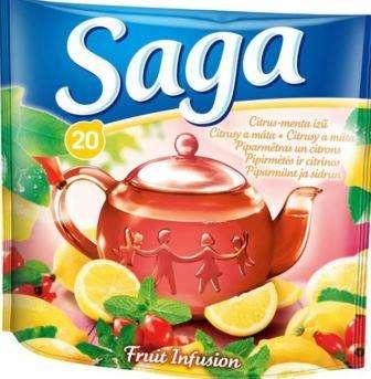 SAGA fruit tea lemon and mint flavor *20