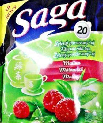 SAGA Green tea with raspberry flavor *20