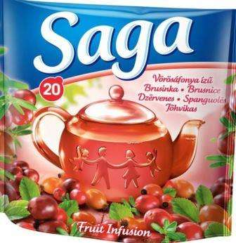 SAGA fruit tea with cranberry taste *20