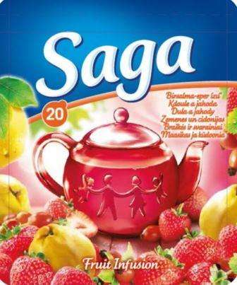 SAGA fruit tea strawberry and cranberry flavor *20