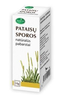 Pataisų sporos (external use), 10g