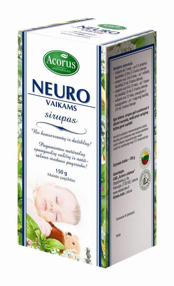 "Sirupas ""Neuro"" (sedative), 150g"