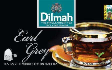 DILMAH Earl grey 20 with thread /bergamot flavored  black tea