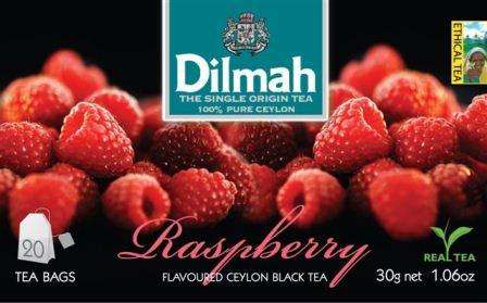 DILMAH Raspberry 20 with thread/raspberry flavored black tee