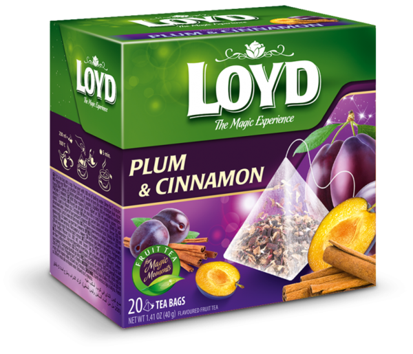 Fruit tea LOYD Warming Plum, 20vnt, 40g