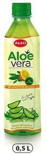 "ALOE VERA with Green tea and lemon ""ALEO"" 0,5L/Drink (PET)"