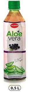 """ALOE VERA with Acai berry flavour """"ALEO"""" 0,5L/Drink (PET)"""