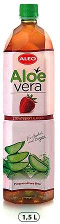"ALOE VERA Strawberry flavour ""ALEO"" 1,5L/Drink (PET)"