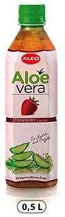 "ALOE VERA Strawberry flavour ""ALEO"" 0,5L/Drink (PET)"